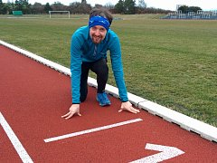 Na tréninku Atleticu Třebíč.