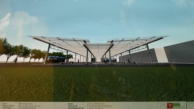 Studenti navrhli nové autobusové nádraží a parkovací dům u dukovanské elektrárny
