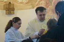 Nový svatostánek v kapli v Chlístově.