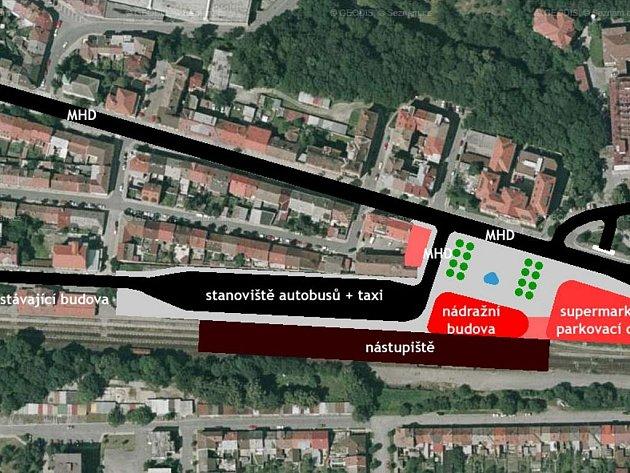 Projekt třebíčského vlakového nádraží
