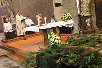 Myslivci přinesli do baziliky divočáka