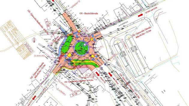 Bude v Třebíči – Týně na místě současné křižovatky u Budíkovické ulice, pod supermaketem Billa.