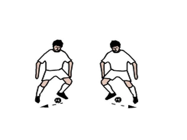 """Obr. 5: Přihrávky z nohy na nohu (""""horký brambor"""")"""