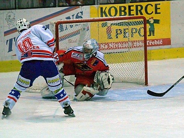 Hokejisté Třebíče podlehli po samostatných nájezdech Prostějovu.