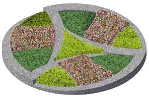 Vizualizace kruhového objezdu v křižovatce ulic Velkomeziříčská, Cyrilometodějská, Brněnská.