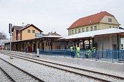 Nové nástupiště na nádraží v Třebíči.