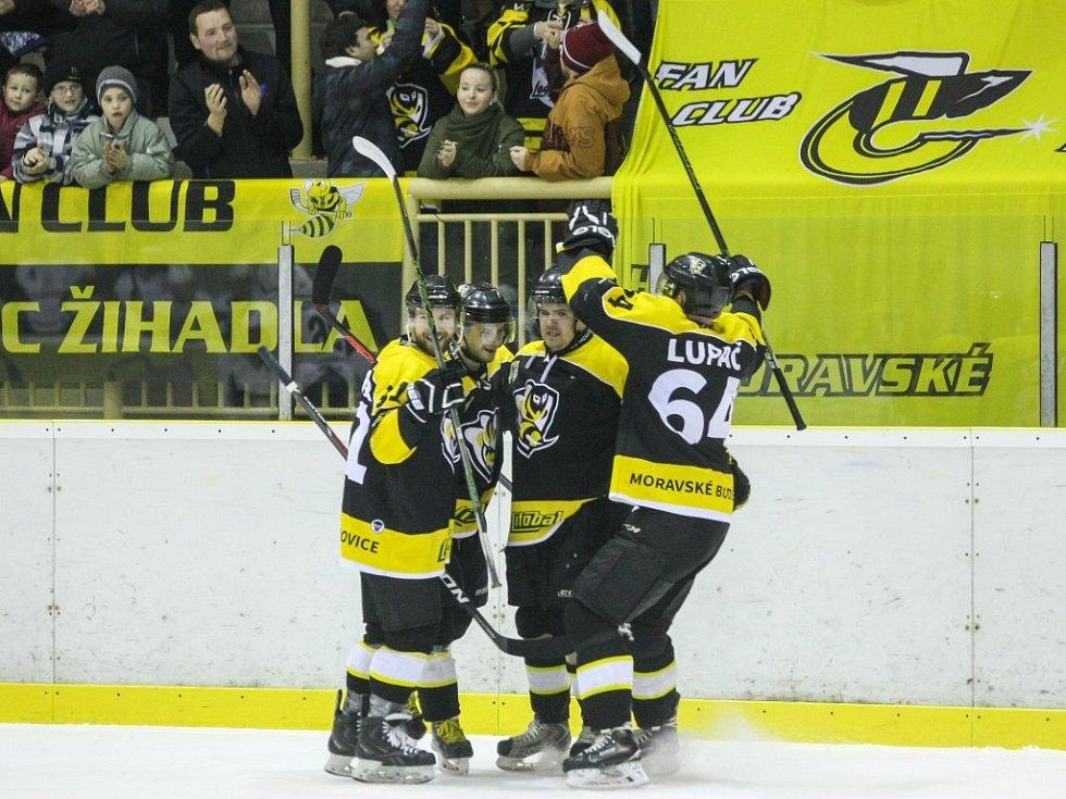 Celkem šestkrát se mohli radovat hokejisté Moravských Budějovic ve druhém zápase s Havlíčkovým Brodem, který porazili 6:3 a vyrovnali stav semifinálové série na 1:1.