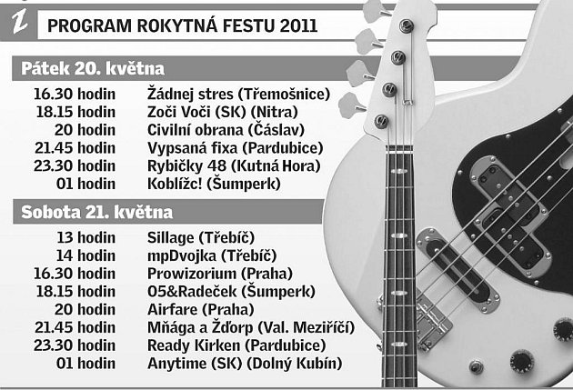 Program Rokytná festu 2011.