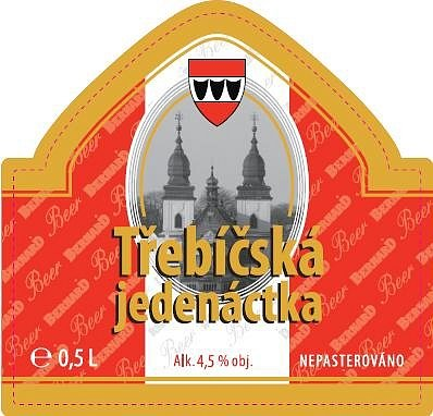 Etiketa nového třebíčského piva.