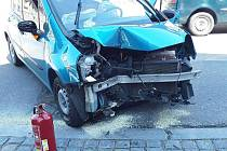 Nehoda v Cyrilometodějské ulici.