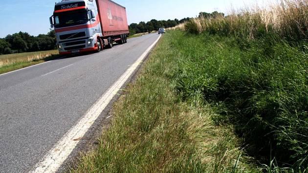 Slehlá tráva v příkopě ukazuje místo, kde téměř den bez povšimnutí ležel polomrtvý chodec. Náhodný cyklista jej zaregistroval. Pozdě.
