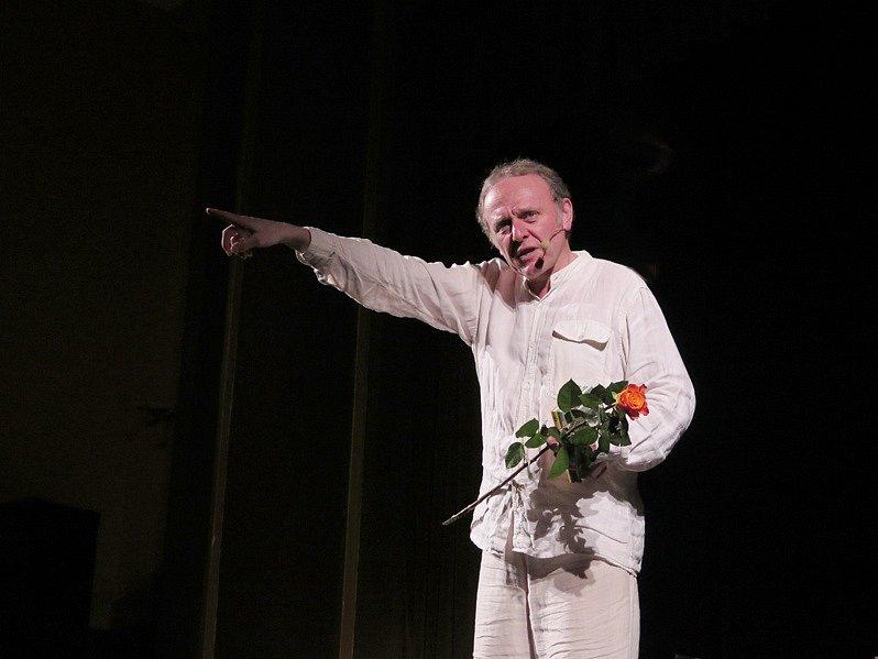 Herec Jaroslav Dušek v Třebíči