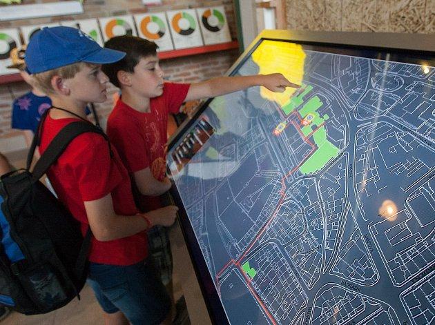 Slavnostního otevření nové expozice v Ekotechnickém centru Alternátor.