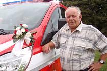 Bohumír Benáček, starosta dobrovolných hasičů z Rohů