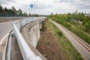 V Třebíči zavřeli most u nemocnice.