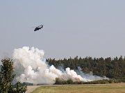 Letecká podpora aktivní záloh při cvičném boji.