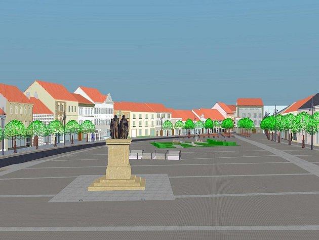 V letech 2002 až 2003 se třebíčská radnice zabývala možností rekonstrukce a přestavby Karlova náměstí. Nad možnou budoucí podobou centra města se zamýšleli také studenti Střední stavební školy Třebíč. V rámci školních prací vytvořili několik vizualizací.