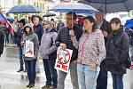 Demonstrace v Moravských Budějovicích
