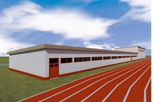 Atletická hala vyjde na čtyřicet milionů korun. Pokud vše půjde hladce, první sportovci si v ní zacvičí na podzim roku 2022.