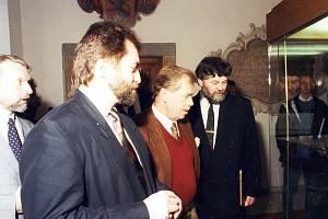 Třebíč navštívil prezident Václav Havel.
