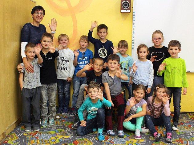 Na fotografii jsou prvňáčci ze ZŠ vPředíně, třída paní učitelky Pavly Vídenské.  Příště představíme prvňáčky ze Základní školy vPřibyslavicích.