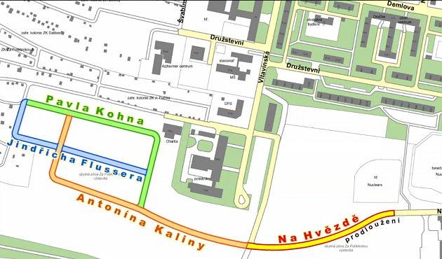 Nové ulice ponesou jména, která souvisejí spříběhem Antonína Kaliny.
