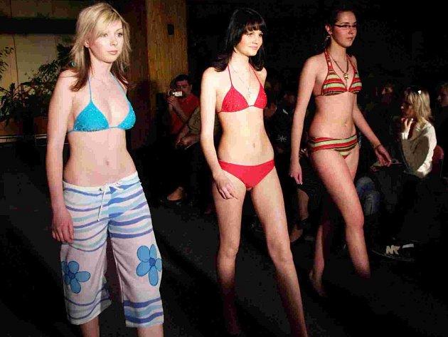 Začínající modelky a dva modely představila včera v hotelu Atom olomoucká agentura Styl.