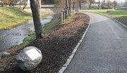 Nová cyklostezka v Náměšti nad Oslavou.