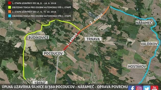 Blíží se uzavírka na výpadovce na dálnici D1, úseku u Pocoucova