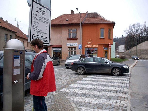 Parkovací automat.