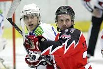 Hokejisté Třebíče přivítali na svém ledě rivala ze Znojma.Ilustrační foto