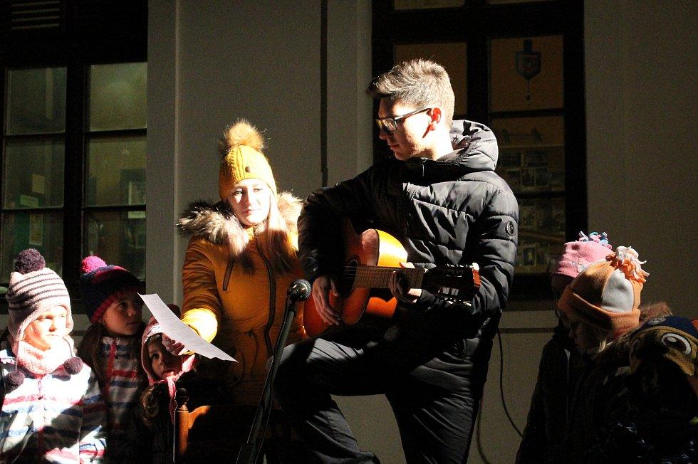 Akce Česko zpívá koledy v Třebíči 11. prosince 2019.