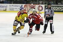 Semifinále první hokejové ligy mezi Horáckou Slávií Třebíč a českobudějovickým Motorem