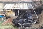 Požár v Pucově.