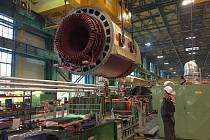 Transport rotoru generátoru.
