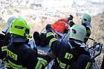 Cvičení, do kterého se zapojil hasiči, policisté a zaměstnanci nemocnice.