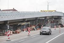 Rekonstrukce mostu u třebíčské nemocnice.
