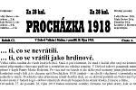 Mapka s informacemi o domech v Dešově, v nichž se narodili legionáři a muži, kteří zahynuli v první světové válce.