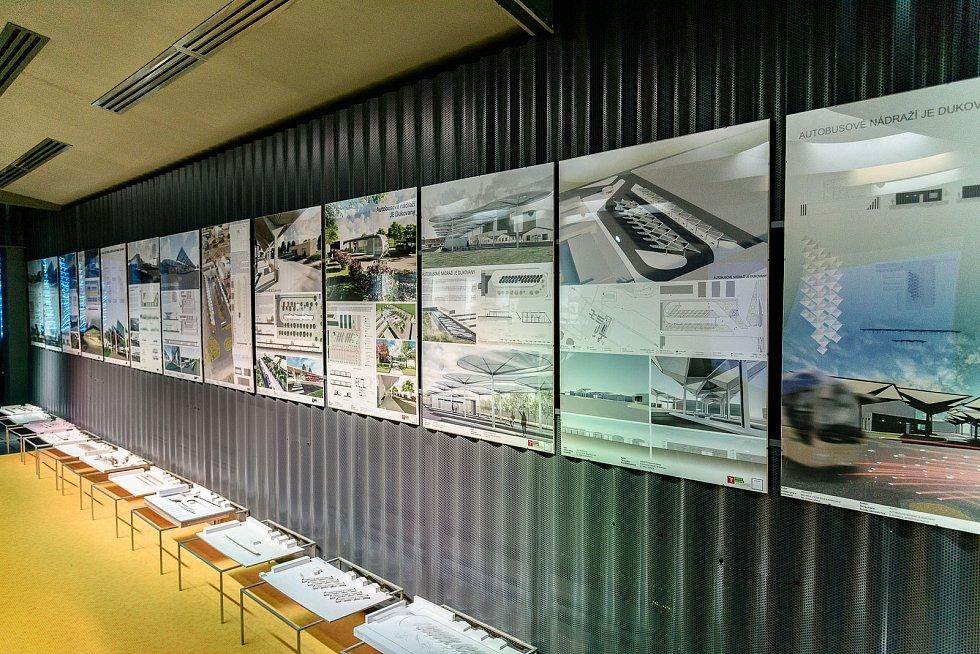 Studentské návrhy nové podoby prostranství před dukovanskou elektrárnou.