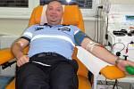 Třebíčští policisté hromadně darovali krev. Foto: Policie ČR