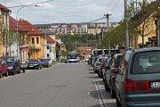 Uzavírka v Třebíči a její dopady. Pohled z ulice Svatopluka Čecha.