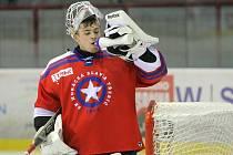 Hodně potu a úsilí stálo třebíčské hokejisty (včetně brankáře Karla Vejmelky) zdolání posledního týmu prvoligové tabulky, HC Most.