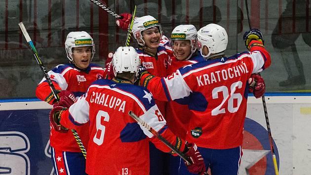 Třebíčští hokejisté zvládli těžký duel. Vsetín poslali domů s prázdnou