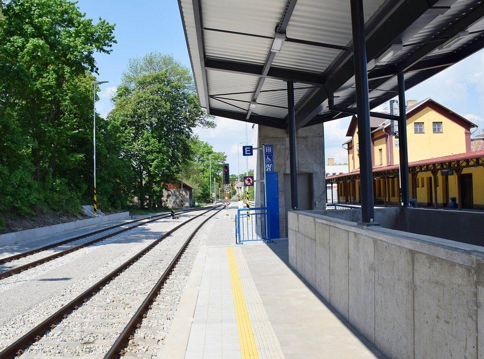 Železniční nádraží v Třebíči.