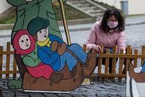 Vánoční betlém na Masarykově náměstí v Náměšti nad Oslavou.