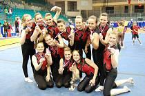 Seniorské družstvo oddílu sportovní gymnastiky ASPV TJ BOPO Třebíč při ZŠ Bartuškova na MČR v Ostravě obsadilo druhé místo a postoupilo na evropský šampionát do Švédska.