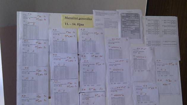 Generálka státních maturit na třebíčském gymnáziu.