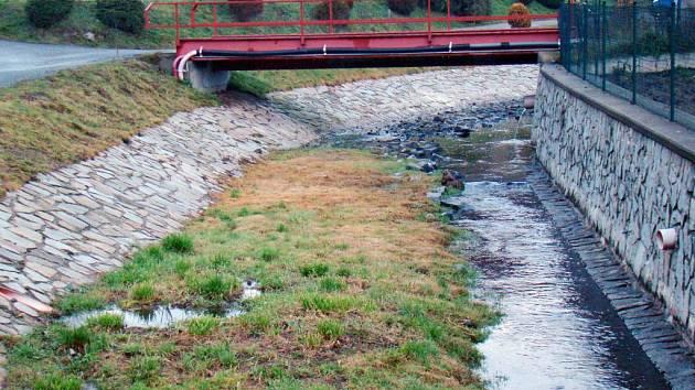 Kvalita vody v tocích se zlepšuje. Mlýnský potok čistý není.