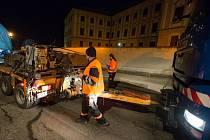 Stator generátoru vážící 174 tun na cestě mezi dukovanskou elektrárnou do Plzní.