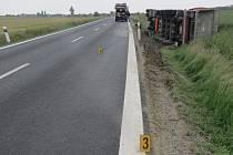 Dopravní nehoda, která se stala 28. května na silnici I/23 v katastru obce Sudice na Třebíčsku.